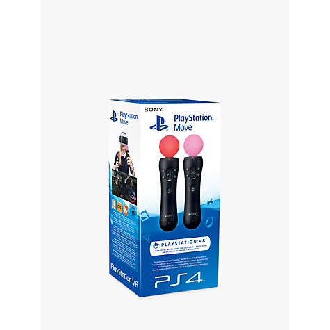 Buy Sony PlayStation Move Controller for PS4 and PS VR Headset, Twin Pack Online at johnlewis.com