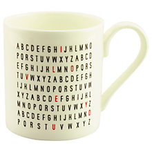 Buy McLaggan Smith 'I Love You' Letters Mug Online at johnlewis.com