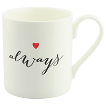 Buy Alice Scott 'Always' Heart Mug Online at johnlewis.com