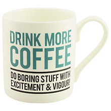 Buy Alice Scott 'Drink More Coffee' Mug Online at johnlewis.com