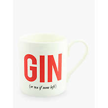 Buy Alice Scott 'Gin Or Tea' Mug Online at johnlewis.com