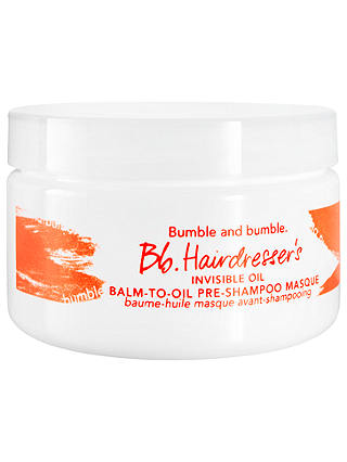 Buy Bumble and bumble Bb. Hairdresser's Invisible Oil Balm-to-Oil Pre-shampoo Masque, 100ml Online at johnlewis.com