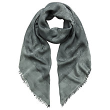Buy Mulberry Tamara Square Scarf, Grey Online at johnlewis.com