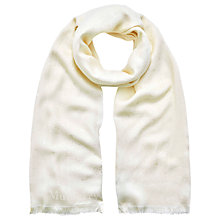 Buy Mulberry Tree Logo Silk Mix Scarf, Cream Online at johnlewis.com
