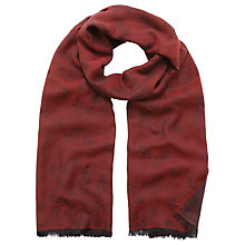Buy Mulberry Tamara Logo Scarf Online at johnlewis.com
