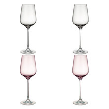 Buy Design Project by John Lewis No.018 White Wine Glasses, Set of 4, Assorted Colours, 350ml Online at johnlewis.com
