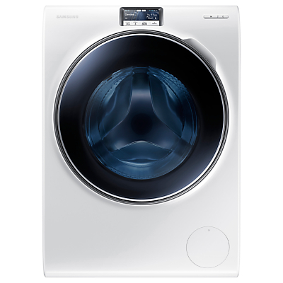 Samsung WW10H9600EW Freestanding Washing Machine, 10kg Load, A+++ Energy Rating, 1600rpm Spin, Stainless Steel, White