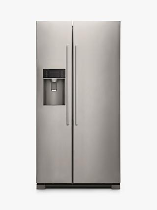 Fisher & Paykel RX611DUX American Style Fridge Freezer, Stainless Steel