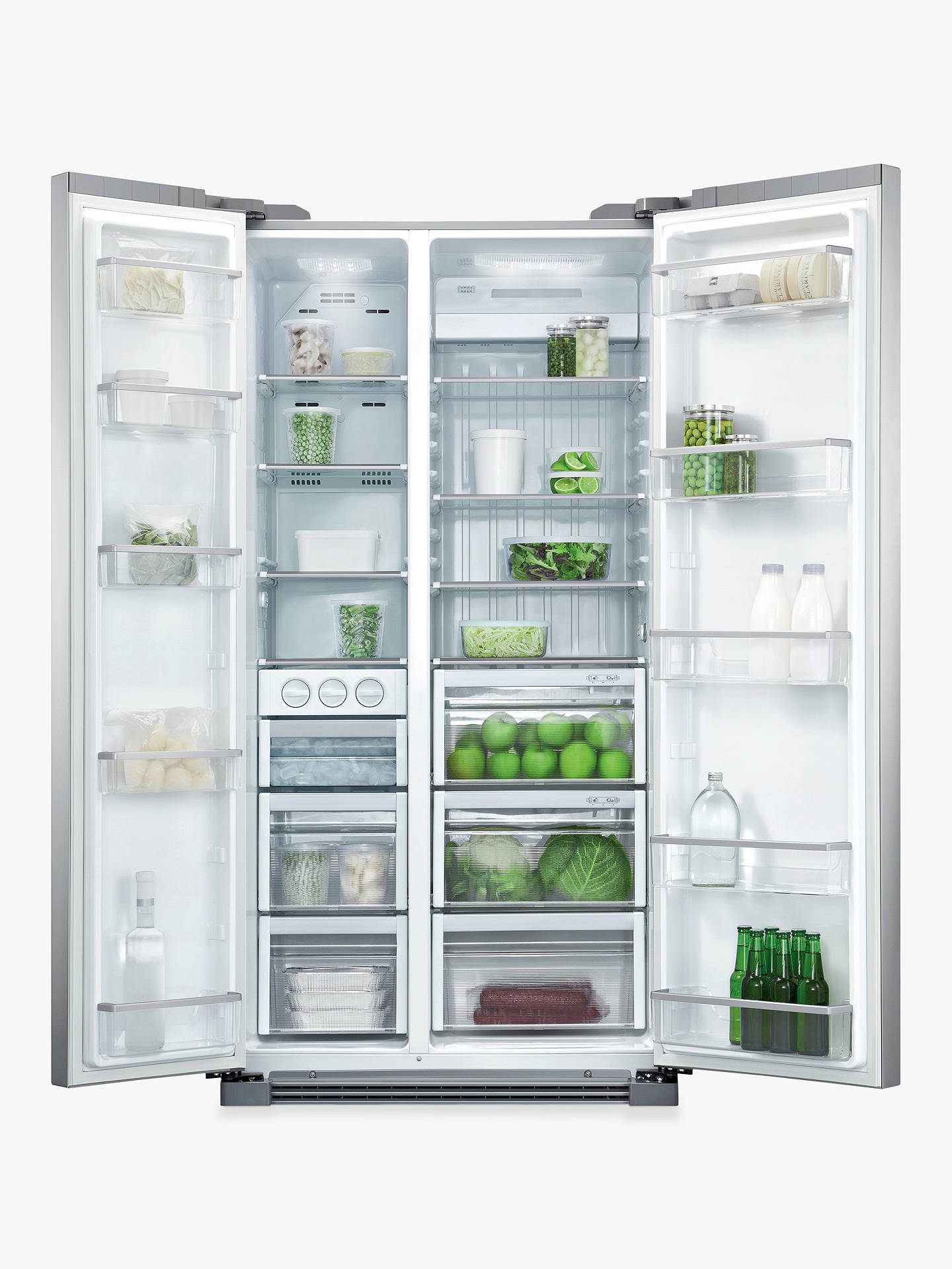 BuyFisher & Paykel  RX628DX1 American Style Fridge Freezer, Stainless Steel Online at johnlewis.com