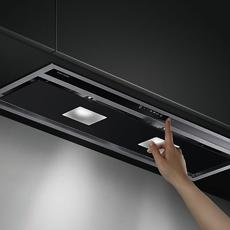 Buy Fisher & Paykel HP90IHCB3 Integrated Cooker Hood, Stainless Steel / Black Glass Online at johnlewis.com