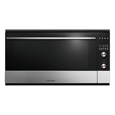 Image of Fisher & Paykel OB90S9MEPX3 Built-In Single Electric Oven, Stainless Steel / Black Glass