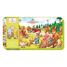 Buy Niederegger Workshop Tin Of Dark Chocolate Filled With Marzipan, 175g Online at johnlewis.com