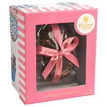 Buy Charbonnel et Walker English Rose & Violet Dark Chocolate Easter Egg, 115g Online at johnlewis.com