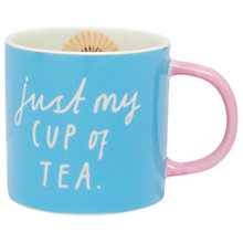 Buy Joules 'Just My Cup Of Tea' Porcelain Mug Online at johnlewis.com