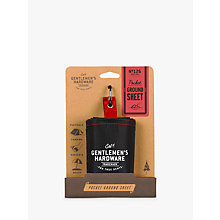 Buy Gentlemen's Hardware Pocket Ground Sheet Online at johnlewis.com