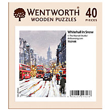 Buy Wentworth Wooden Puzzles Whitehall In The Snow Jigsaw Puzzle, 40 pieces Online at johnlewis.com