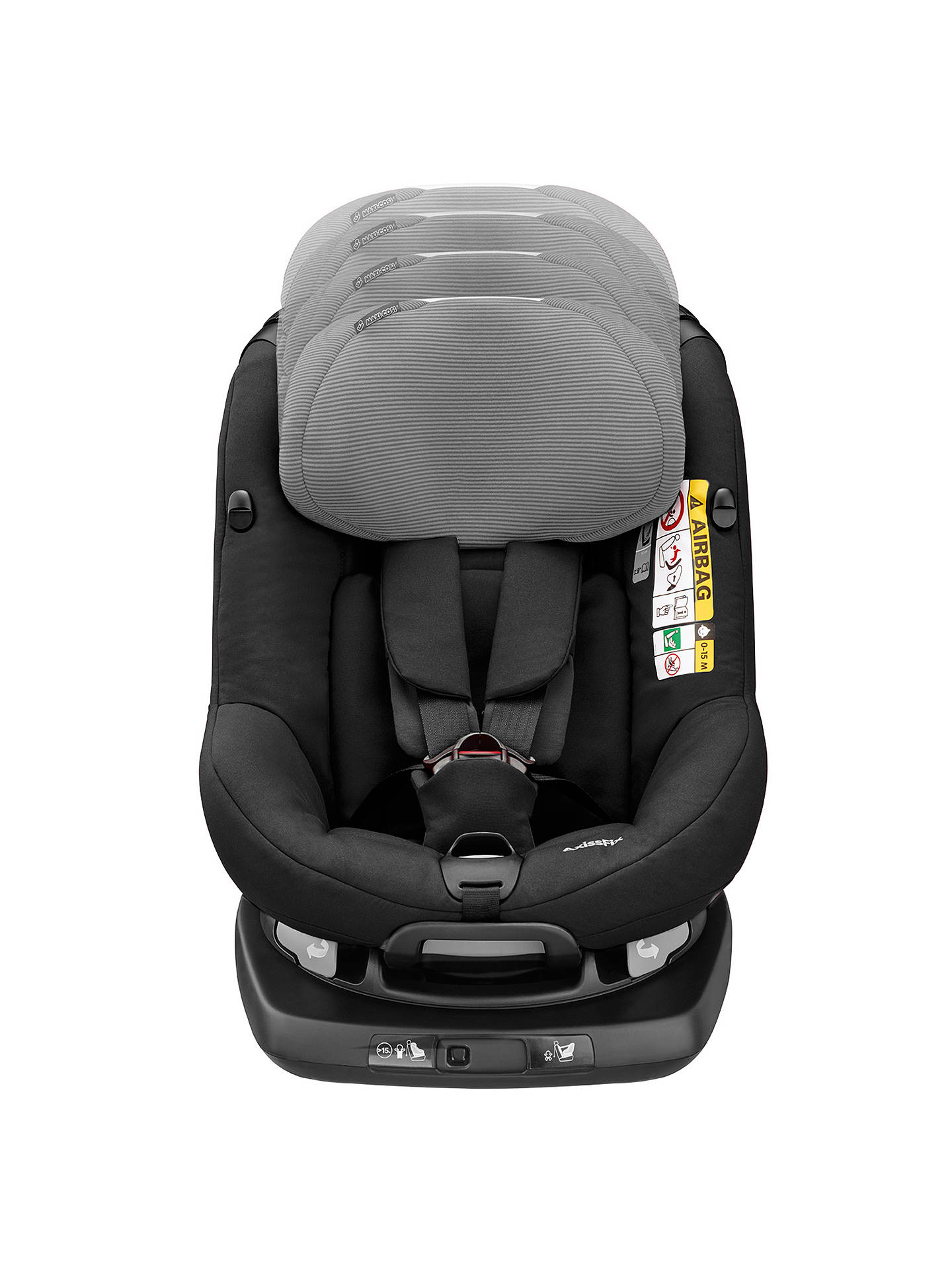 maxi cosi axissfix plus group 0 and 1 car seat black raven at john lewis partners. Black Bedroom Furniture Sets. Home Design Ideas