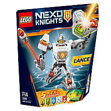 Buy LEGO Nexo Knights 70366 Battle Suit Lance Online at johnlewis.com
