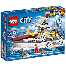 Buy LEGO City 60147 Fishing Boat Online at johnlewis.com
