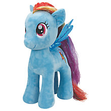 Buy Ty My Little Pony Rainbow Dash Beanie Soft Toy, 42cm Online at johnlewis.com