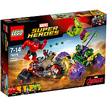 Buy LEGO Marvel Super Heroes 76078 Hulk Vs Red Hulk Online at johnlewis.com