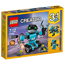 Buy LEGO Creator 31062 3 in 1 Robo Explorer Online at johnlewis.com