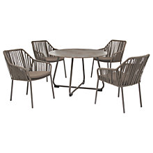 Buy KETTLER Manhattan 4 Seater Table & Twist Chairs Set, Taupe Online at johnlewis.com