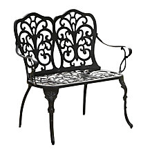Buy Suntime Sussex Bench, Black Online at johnlewis.com