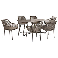 Buy KETTLER Manhattan 6 Seater 'Twist' Table & Chairs Set, Taupe Online at johnlewis.com