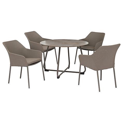 Buy KETTLER Manhattan 4 Seater U0027Wrapu0027 Table U0026 Chairs Set, Taupe Online At  ...