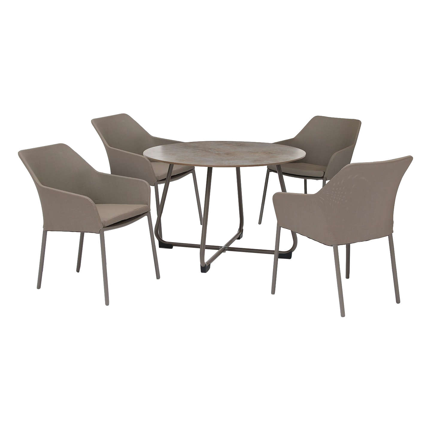 kettler manhattan 4 seater wrap garden table and chairs set taupe
