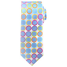 Buy John Lewis Giant Circle Dot Woven Silk Tie, Multi Online at johnlewis.com