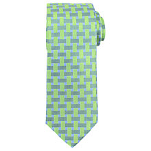Buy John Lewis Grid Check Woven Silk Tie Online at johnlewis.com