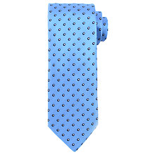 Buy John Lewis Matte Base Shadow Dot Silk Tie, Light Blue Online at johnlewis.com