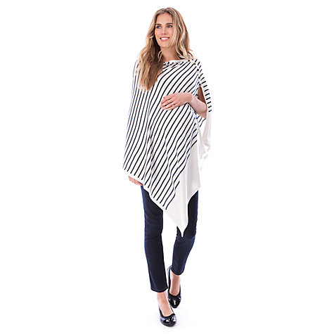 Buy Séraphine Mia Striped Nautical Maternity Shawl, White/Navy Online at johnlewis.com