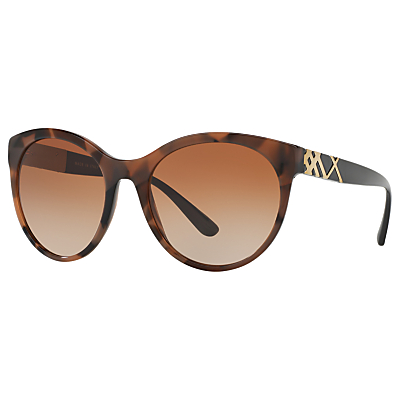 Burberry BE4236 Oval Sunglasses, Tortoise/Brown Gradient