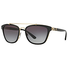 Buy Burberry BE4240 D-Frame Sunglasses, Matte Black/Grey Gradient Online at johnlewis.com