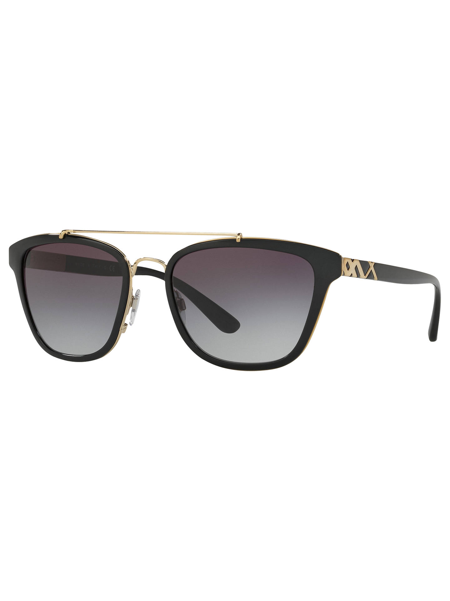 BuyBurberry BE4240 D-Frame Sunglasses, Matte Black/Grey Gradient Online at johnlewis.com