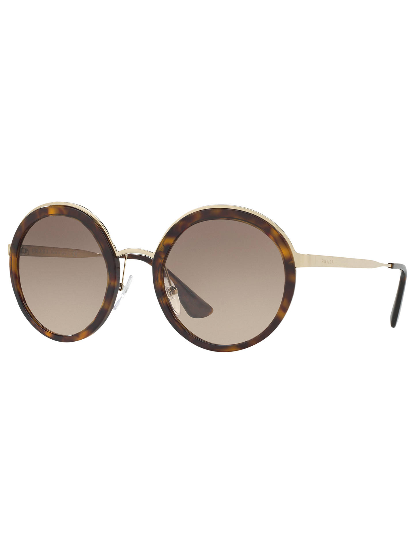 08b7e234751b Buy Prada PR 50TS Round Sunglasses, Tortoise/Brown Gradient Online at  johnlewis.com ...
