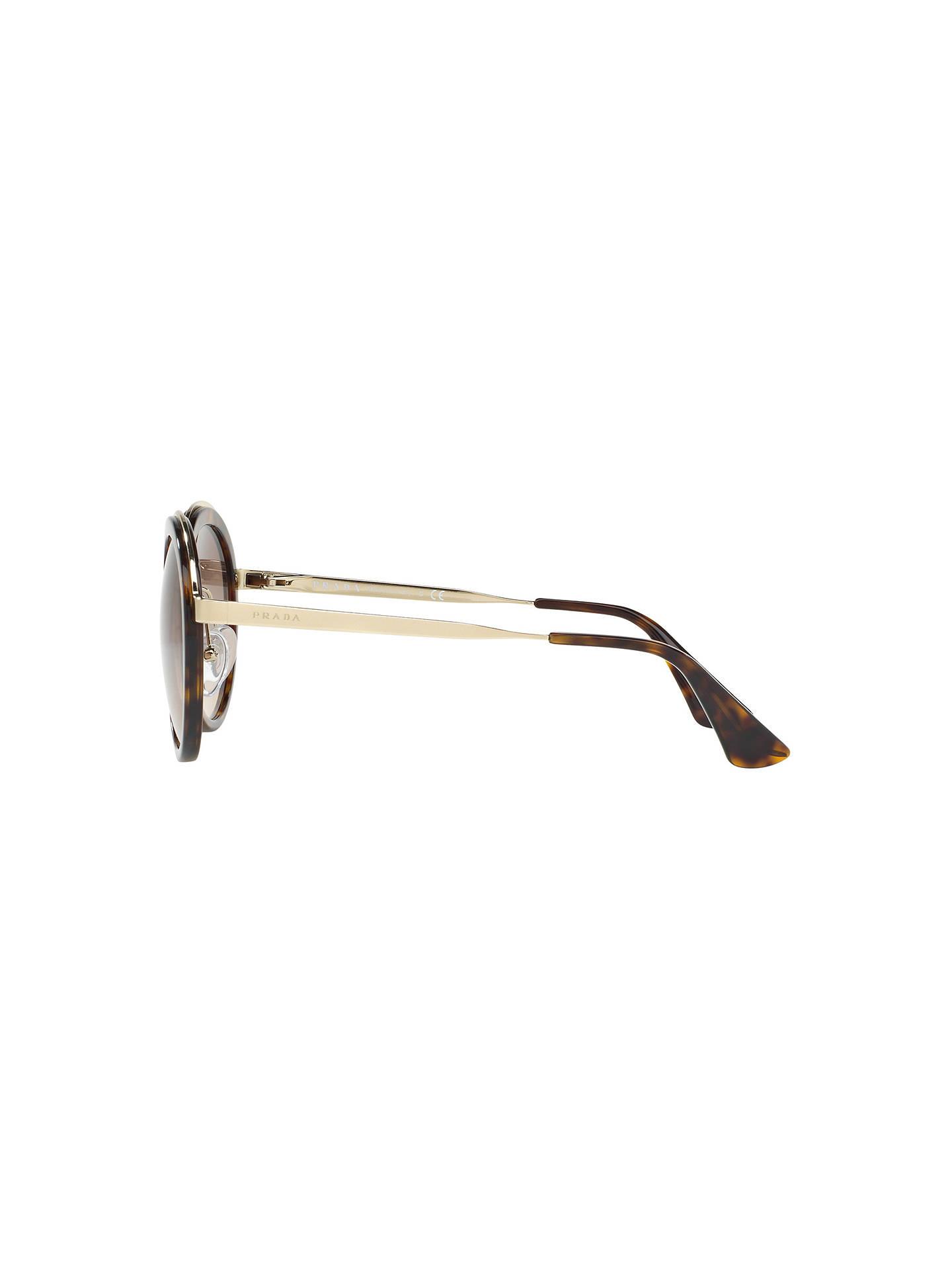 05732bb169d7 Prada PR 50TS Round Sunglasses at John Lewis   Partners