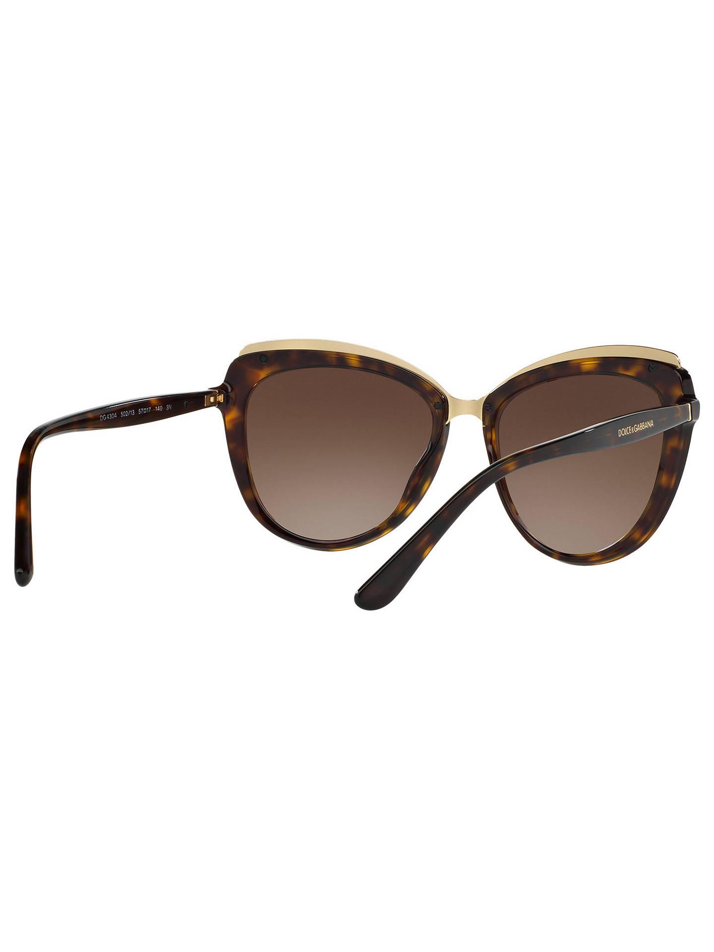b052c309c060 Dolce   Gabbana DG4304 Cat s Eye Sunglasses at John Lewis   Partners