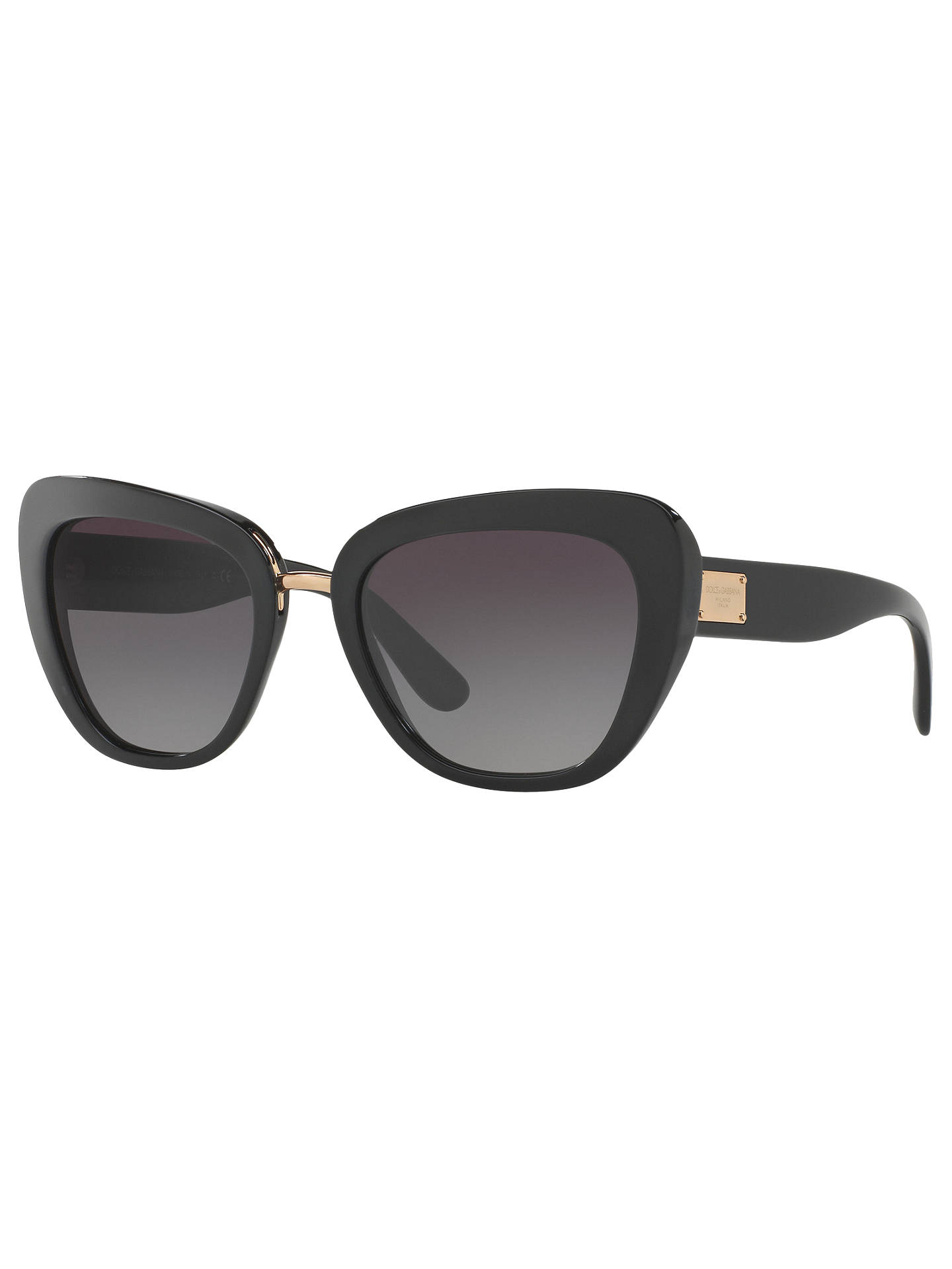 215450cccac1 Buy Dolce & Gabbana DG4296 Cat's Eye Sunglasses, Black/Grey Gradient Online  at johnlewis ...