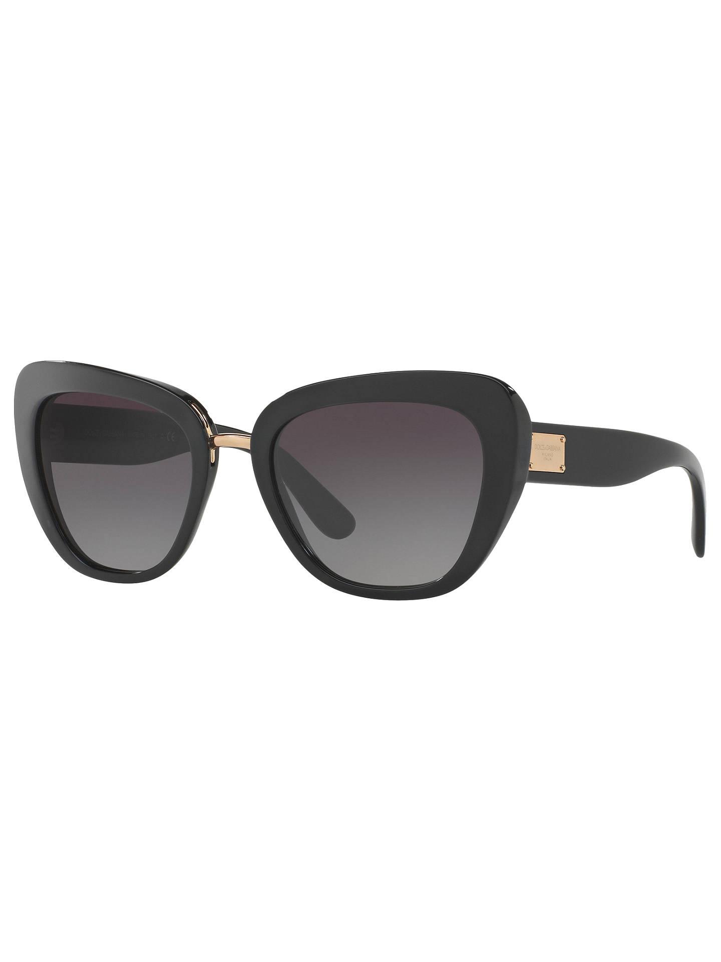 a7c365f1d64a Buy Dolce & Gabbana DG4296 Cat's Eye Sunglasses, Black/Grey Gradient Online  at johnlewis ...