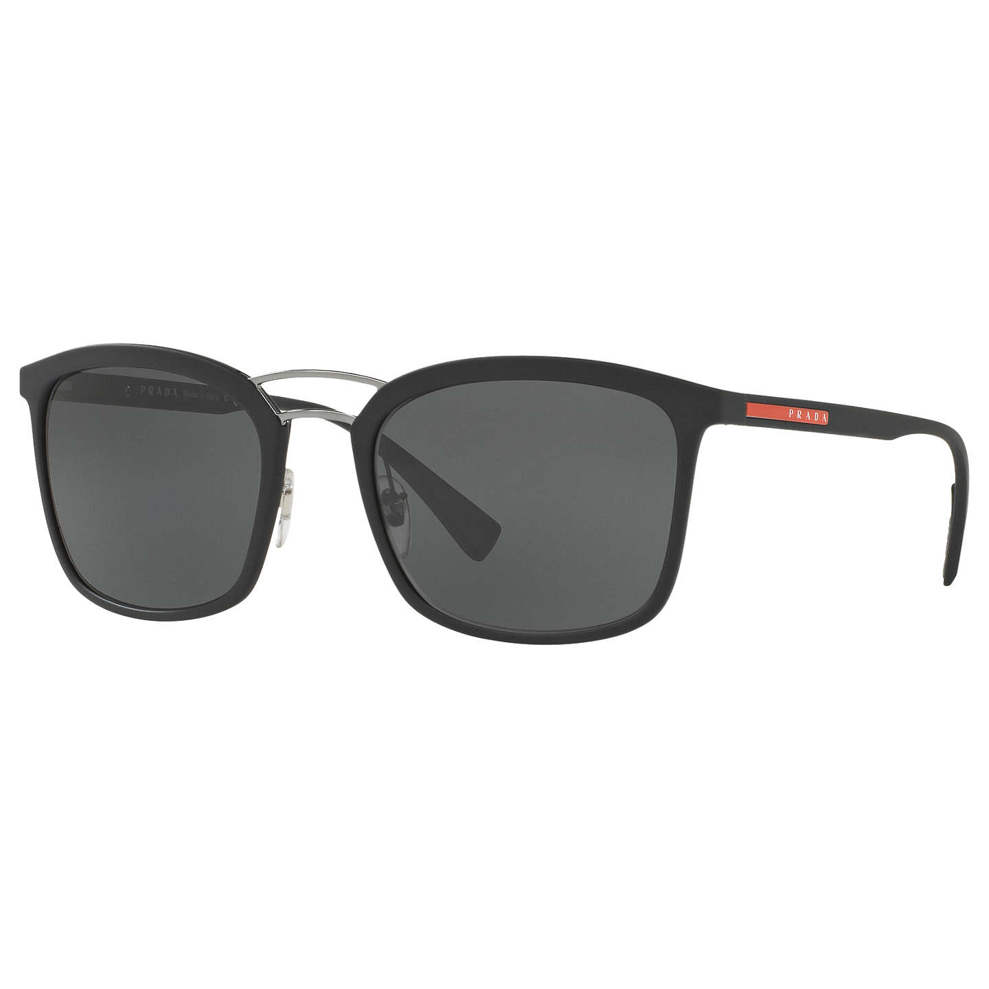 Prada Ps 03 Ss Square Sunglasses, Matte Black by Prada