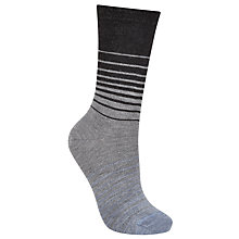 Buy John Lewis Graduating Stripe Ankle Socks, Grey/Black Online at johnlewis.com