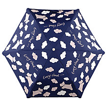 Buy Radley Every Cloud Mini Telescopic Umbrella, Navy/White Online at johnlewis.com