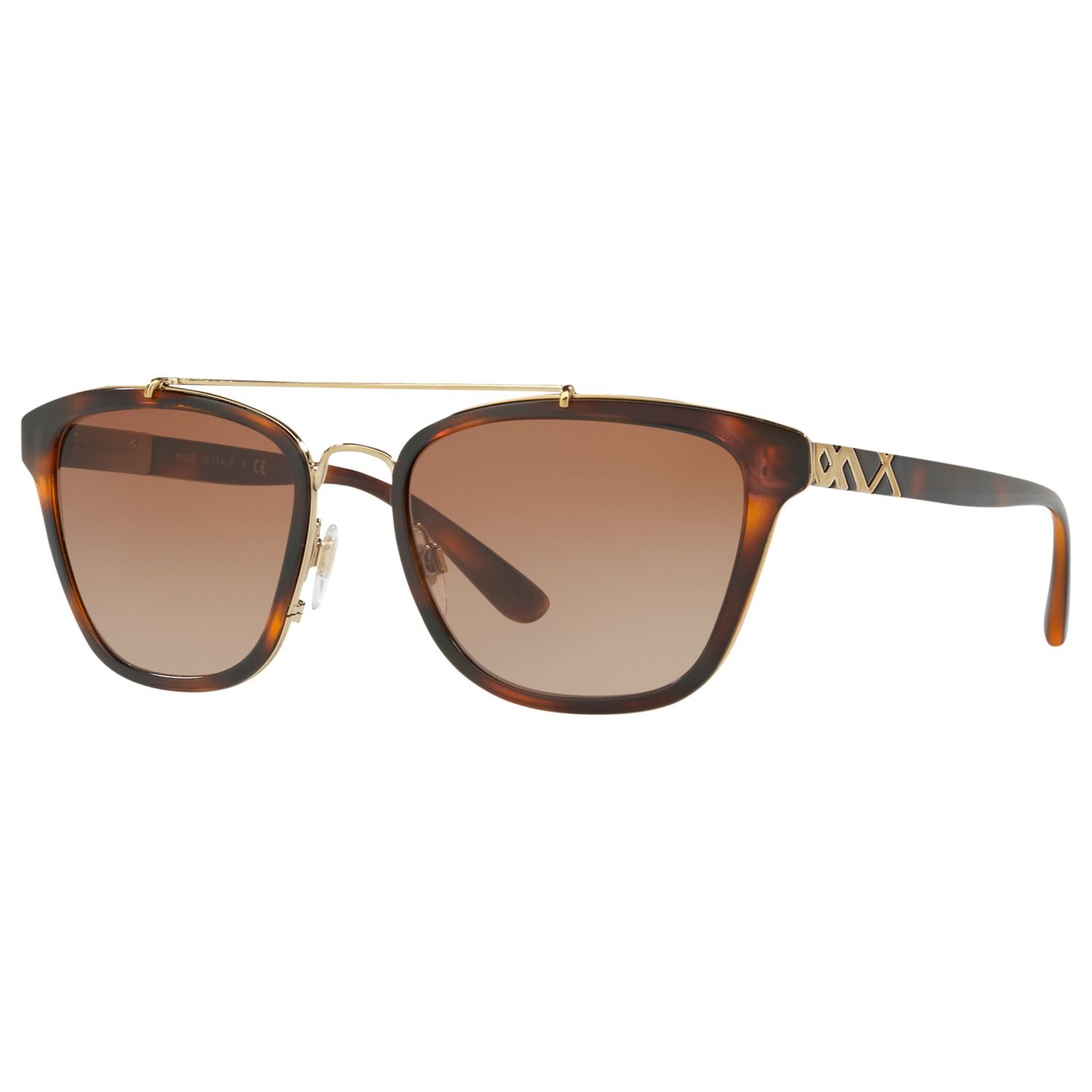 Burberry Burberry BE4240 D-Frame Sunglasses, Tortoise/Brown Gradient