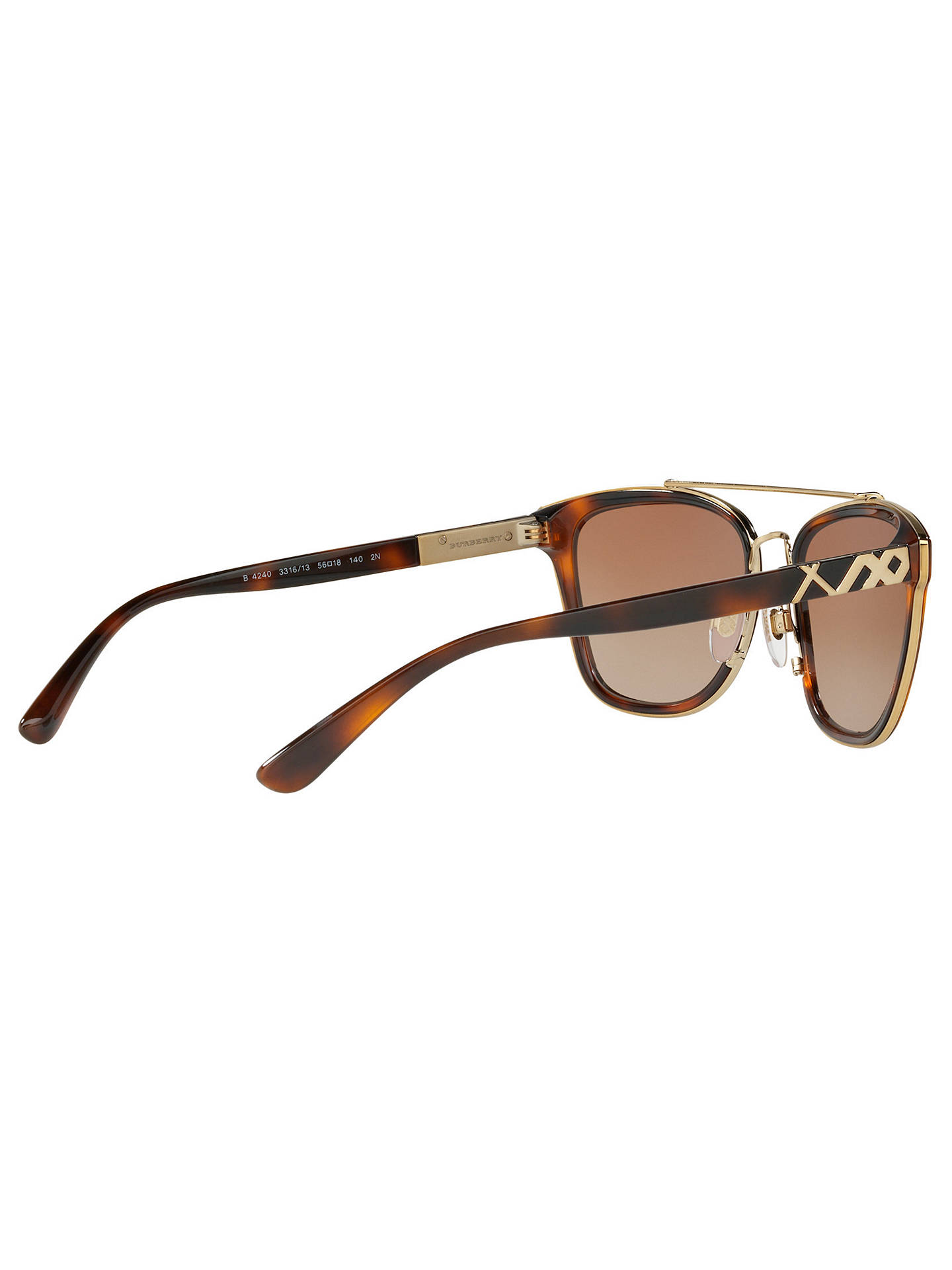 BuyBurberry BE4240 D-Frame Sunglasses, Tortoise/Brown Gradient Online at johnlewis.com