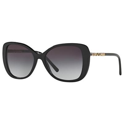 Burberry BE4238 Cat's Eye Sunglasses, Black/Grey Gradient