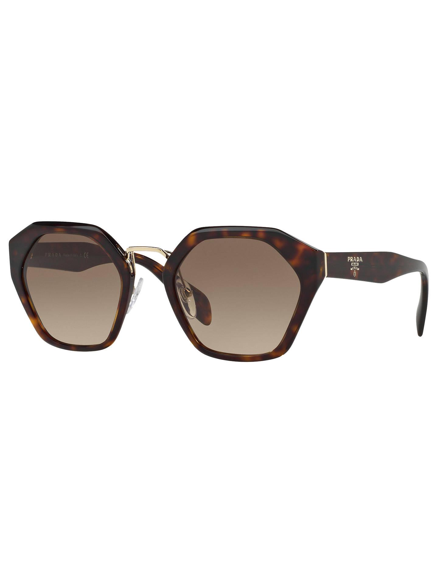 e217ff2be26e Prada PR 04TS Pentagonal Sunglasses at John Lewis   Partners